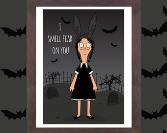Unofficial Fan art - Louise Belcher x Wednesday Addams - Fan Art - Bobs Burgers - Addams Family