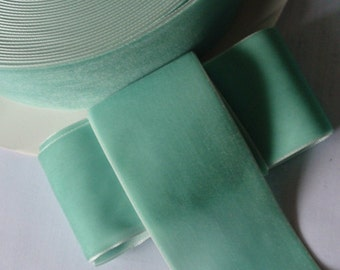 3 Yards  2 inch Velvet  Ribbon In Aqua RY-020-46