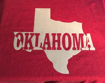 """Custom Tshirt """"Oklahoma/Texas"""""""