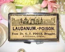 Pill Case, 7 day Pill Box, Pill Case, Pill Box, 7 Sections, Pill Container, Best Friend Gift, Medicine Organiser, Poison, Laudanum.