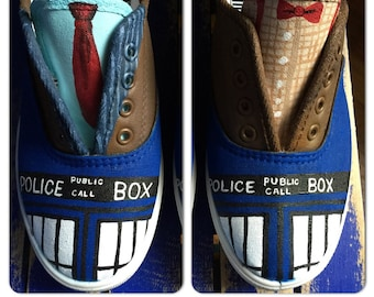 Dr. Who Custom Painted Sneakers