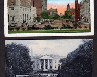 Lot 2 Washington DC Postcards , Vintage White House, Postcards, District of Columbia, Collection