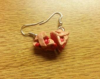 Dangle Cherry Pie Earrings