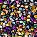 50pcs Czech Glass Pinch Beads 5x3.5mm Mix Metallic  (PCH100)