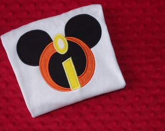 Incredibles Mouse Head- Family Disney Vacation Shirt