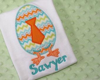 Easter Egg w/Tie Appliquéd Shirt- Personalized