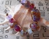 Handmade Glass Lampwork Bead Set