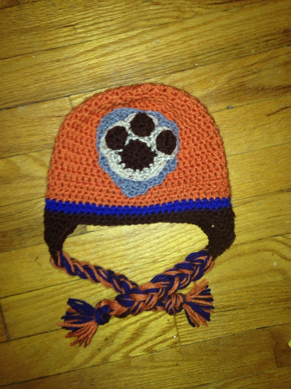 Crochet Hat Pattern Paw Patrol : Items similar to Crochet paw patrol zuma hat on Etsy