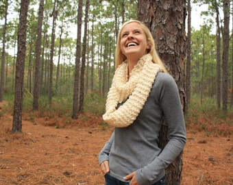Snow Cream Infinity Scarf