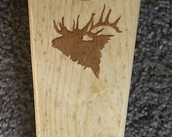 Pine Wood Western Bootjack with and Oak Veneer Elk Logo