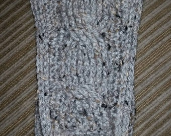 Knit look cable headwarmer