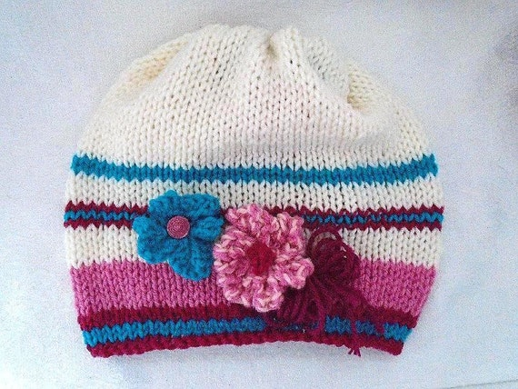 Knitting Pattern For Age : KNITTING PATTERN Knit slouchy hat Age 4 to by HatAndScarfPatterns