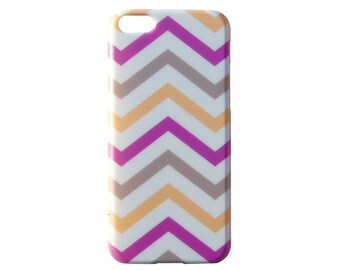 Cute Trendy Snap On Back Cover for iPhone 6 (4.7) 5s 5c 5 4s 4 Chevron Print Pattern Quality Case c249