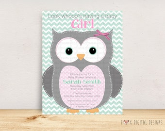 Look Who's Having a Baby Shower Invitation - Custom - Printable