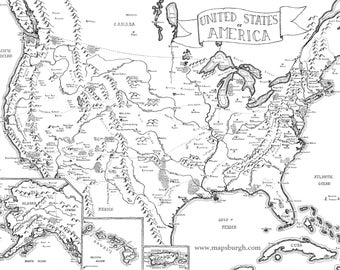 Fantasy map of the United States