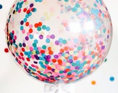 "Giant Confetti Balloon 36"" / Weddings / Birthday Party / Baby Shower / 3 Foot Balloon / Tassel Tail / Frill Balloon"