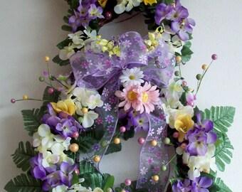 XL Spring Wreath, XL Bunny Wreath, Easter Wreath, Spring Decor, Door Wreath, Home Decor