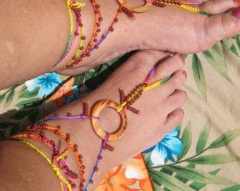 Barefoot Sandal, Foot Jewelry, Beach Accessory