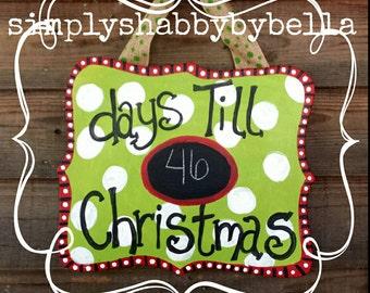 Christmas Countdown door/wall hanger