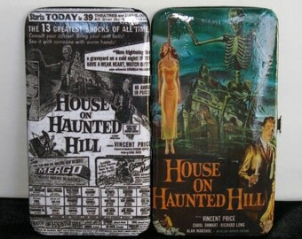 Vincent Price Wallet House on Haunted Hill Classic Horror Movie Clutch Pulp Horror Gothic Wallet Decoupage Wallet