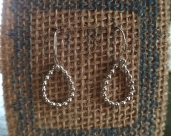Abigail Earrings, Silver Dangle