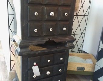 Sold / sold black bedside Table style pottery barn
