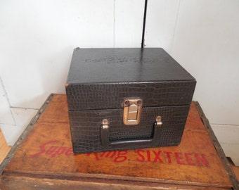 Adorable Black Train Case Vanity Carryall Storage