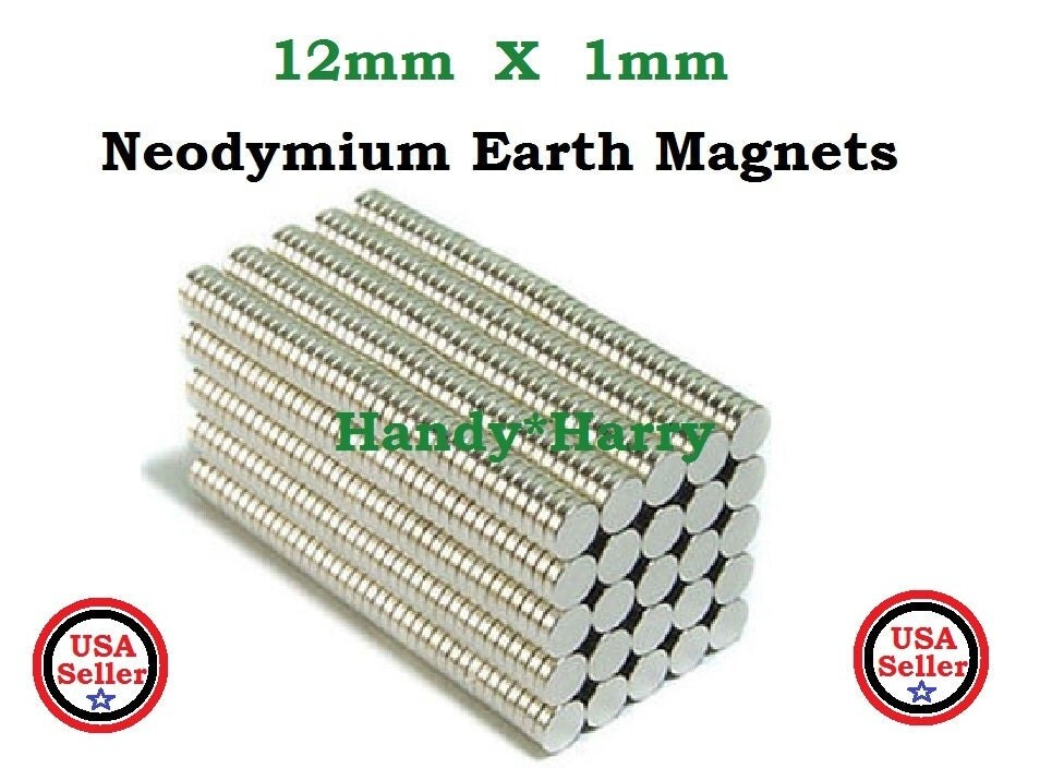 25 pieces 12mm x 1mm super strong neodymium earth magnets for Super strong magnets for crafts