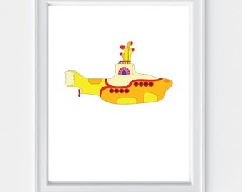 "Yellow Submarine 8"" x 10"" Print 