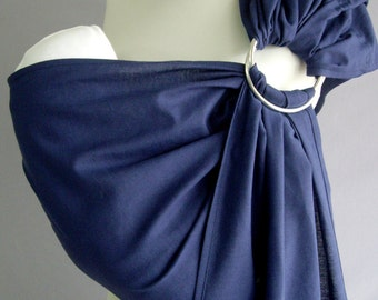 Baby Sling Ring , Blue Baby sling, Sling,Baby Wrap, Baby Sling,Navy Blue, Baby Gift