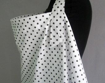 Nursing Cover,Breastfeeding Nursing Cover,Hooter Hider, Nursing Cover Apron,White,Black,Polka dot