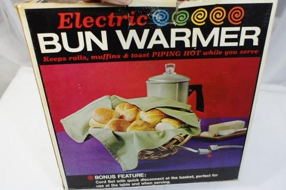Electric Bun Warmer ~ Cornwall electric bun warmer woven basket with heater quick