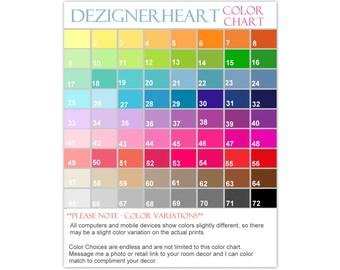Dezignerheart Boutique Color Chart  - **NOT FOR SALE**