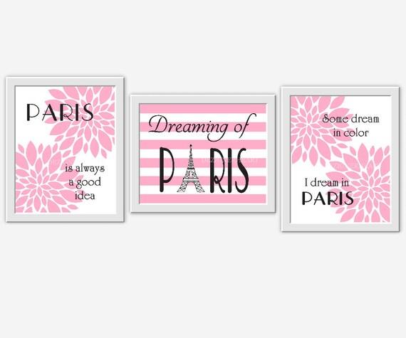 paris girl nursery wall art pink paris girl room wall decor flower