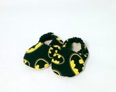 Ready to ship! 3-6 month Batman Baby Shoes DC Comic Superhero Baby Booties for Boys or Girls