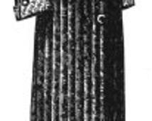 AG1345  - 1912 Blue Zénana House Robe Pattern