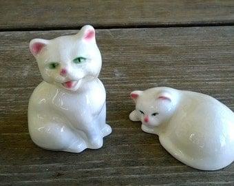 Pair of Goebel white cats
