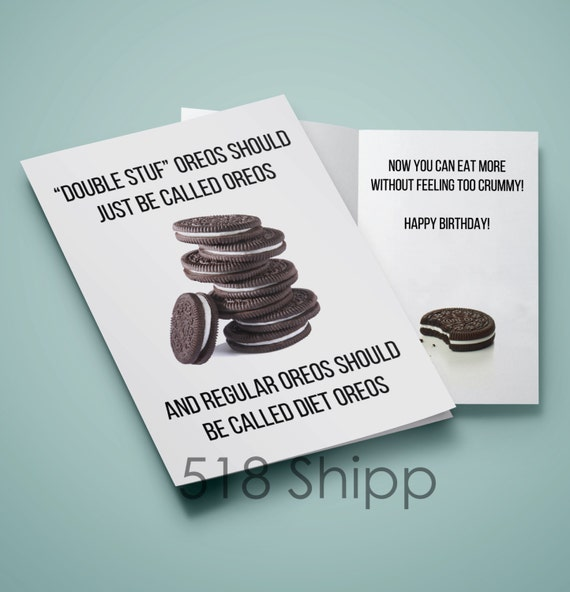 Oreo Happy Birthday Card - Double Stuf Diet Oreos