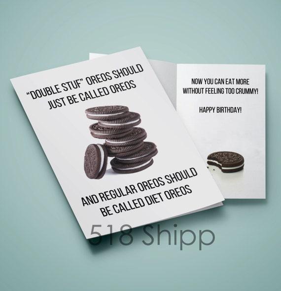 Oreo Happy Birthday Card - Double Stuf Diet Oreos