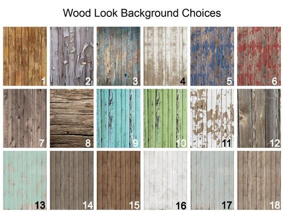 Door Mat Monogrammed Gifts Wood Look Rustic By Chicmonogram