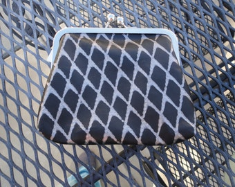Handcrafted Leather Metal Frame Clutch