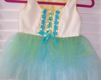 Sunshine fairy vest size3-4 and tutu