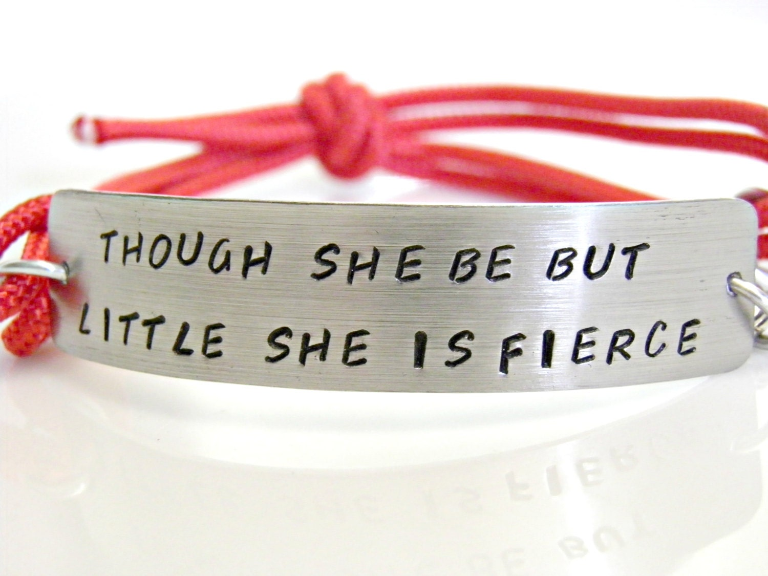 Though She Be But Little She Is Fierce. Shakespeare Quote Hand