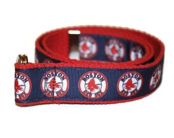 Boston Red Sox Belt for Children-Adjustable D-Ring