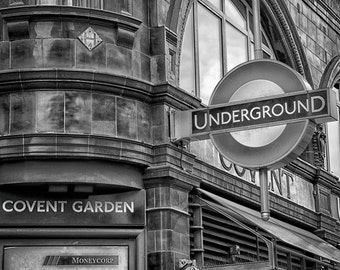 London Underground, London Print, London Art, London Photography, City Photography Black and White Wall Art Photography Print Wall Art Print