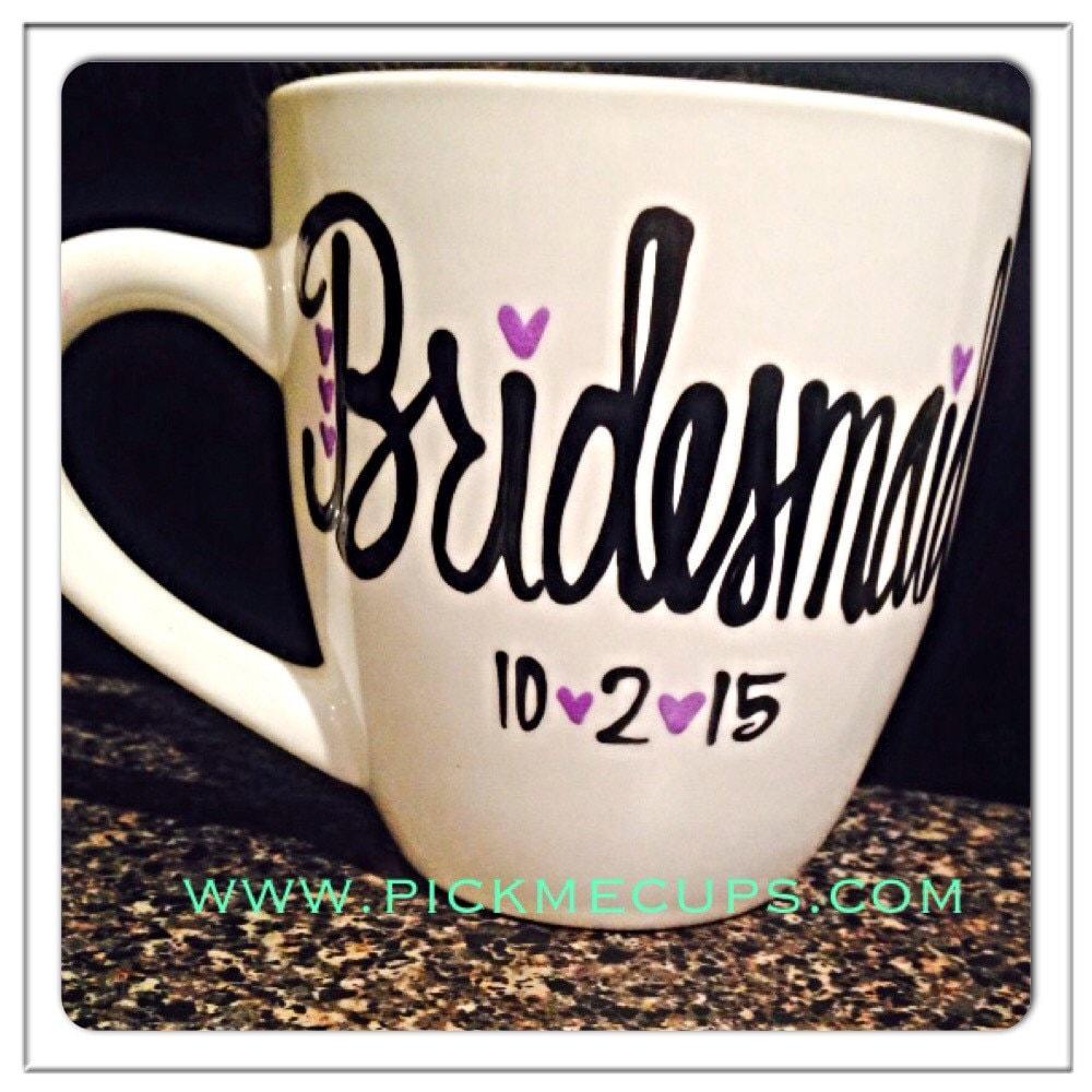 Wedding Gift Coffee Mugs : Bridesmaids wedding coffee mug-bridesmaids gift-wedding gift