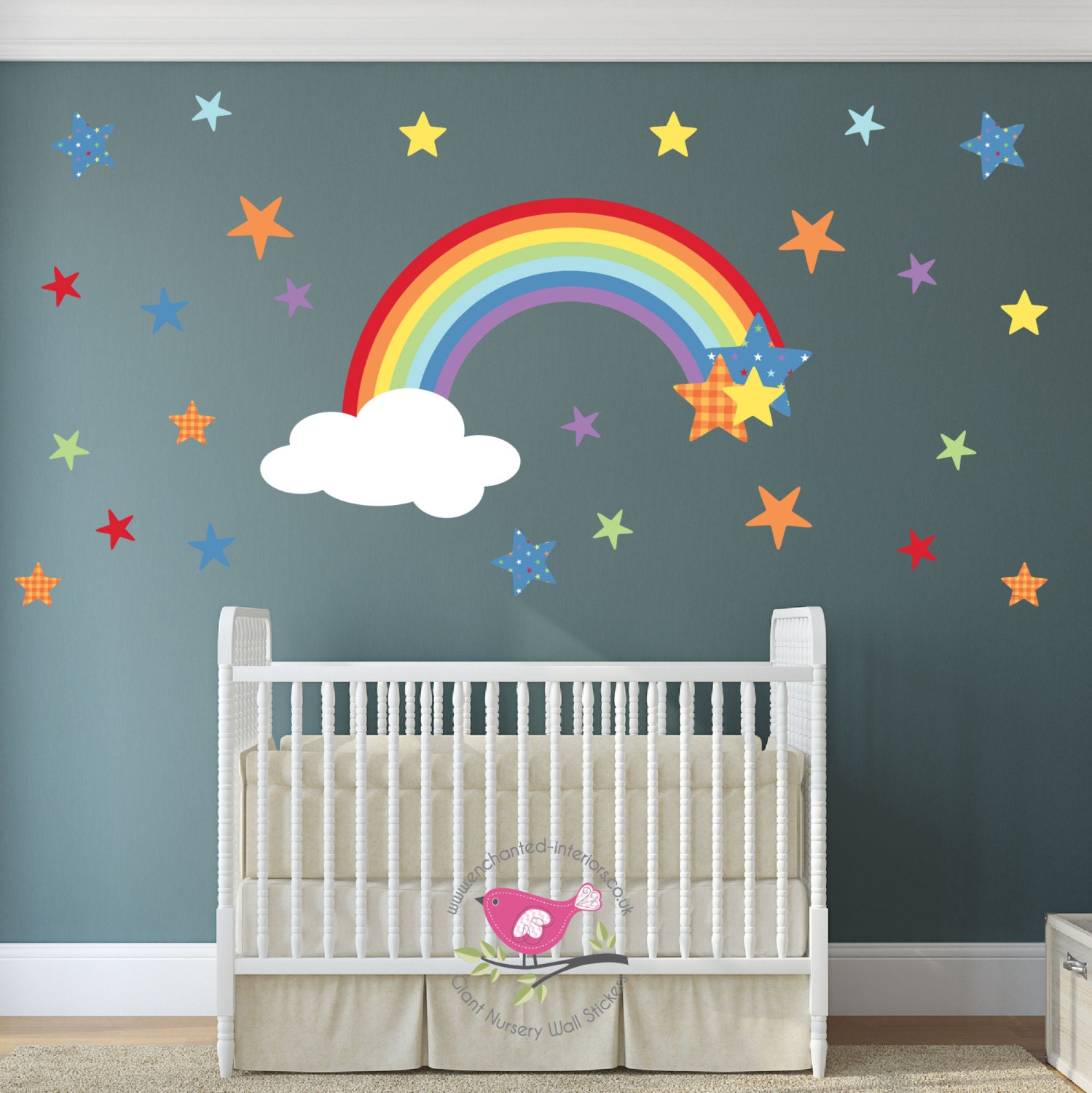Magical Rainbow Wall Decal Star Wall Stickers Boy Or Girl