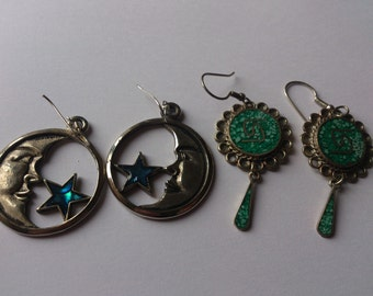 Two pairs of vintage earrings
