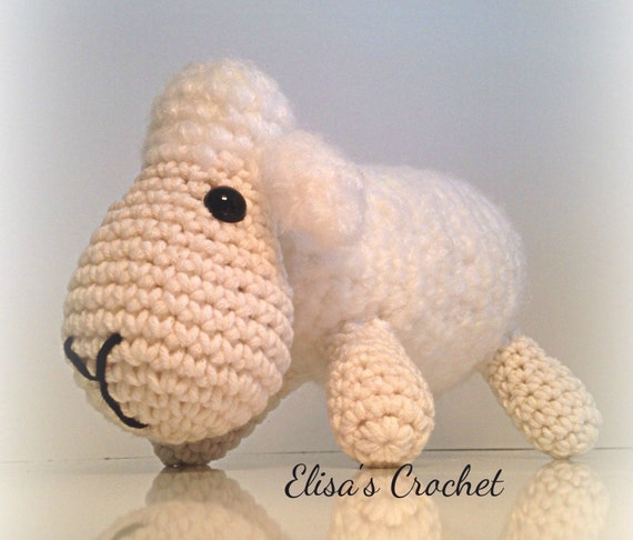 Etsy Amigurumi Sheep : Amigurumi sheep doll