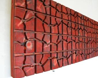"Unique Wooden Wall Art - 40"" x 16"" x 2"" - Home Decoration - Wooden Art - Pieces Art - Unique Decoration"